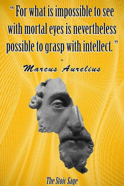 """""""For what is impossible to see with mortal eyes is nevertheless possible to grasp with intellect."""""""