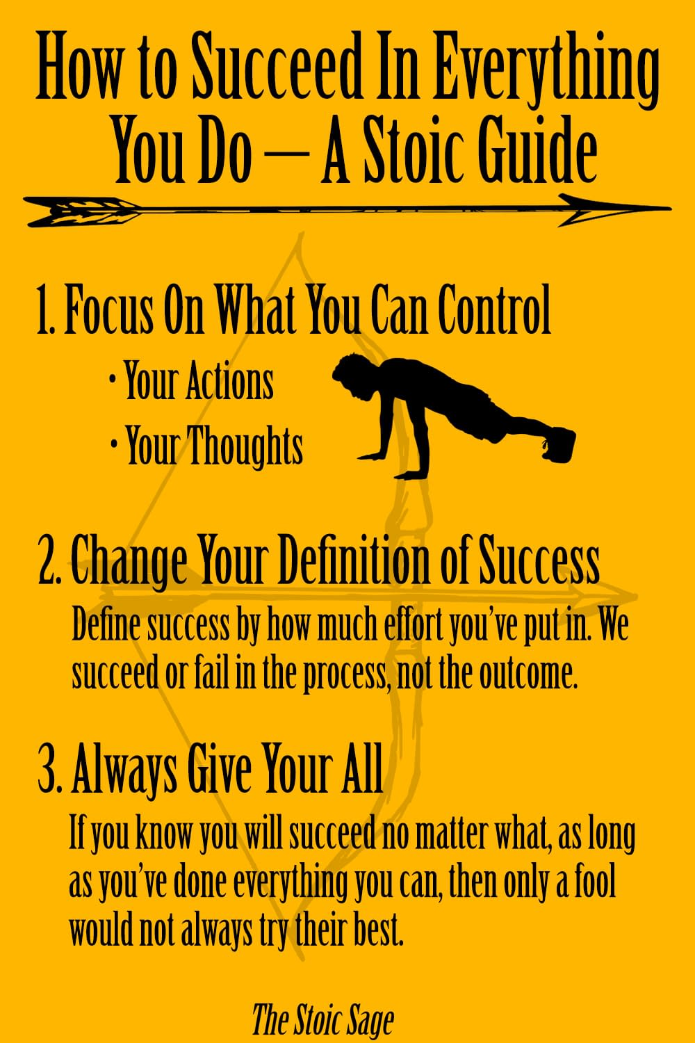 how to succeed in everything you do, a stoic guide